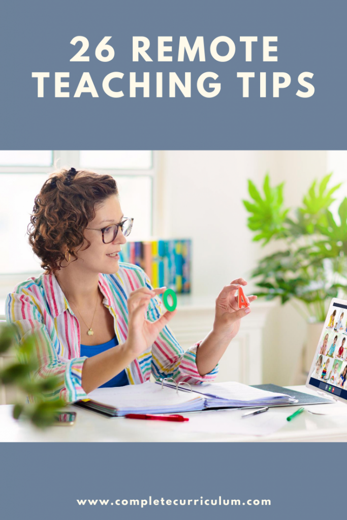 26 tips for remote teaching